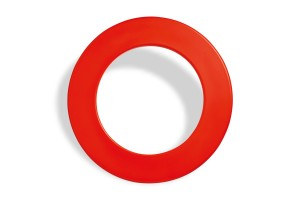 5 pieces Karella Dartboard Surround / Catchring, PU red