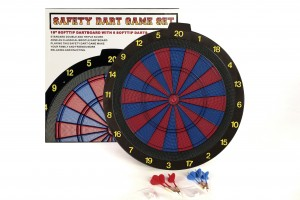 Dartboard for soft darts Tournament version 2 holes, 6 pieces