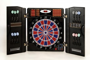 Dartboard CB-90 in the Cabinet-exact tournament dimensions in 2-hole execution