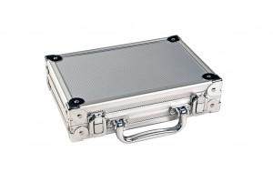 Dartkoffer LUXUS, Farbe silber/aluminium