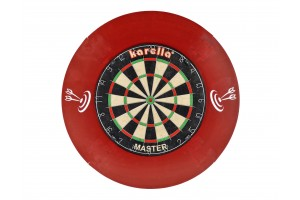 5 Stück Dart-Catchring (Dart-Auffangring), rot, Material: Stoff (Velvet), Durchmesser ca. 70 cm , Gewicht ca