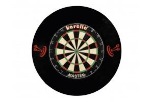 Dart-Catchring (Dart-Auffangring), schwarz, Material: Stoff (Velvet), Durchmesser ca. 70 cm , Gewich
